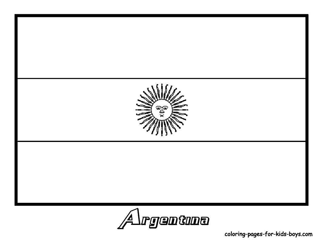Раскраска Флаг аргентины Скачать флаг, Аргентина.  Распечатать ,раскраски,