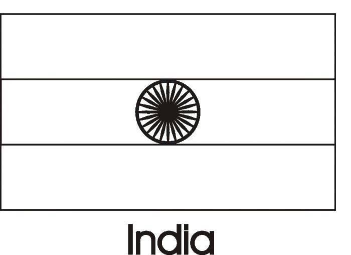 Раскраска Флаг индии Скачать флаг, Индия.  Распечатать ,раскраски,