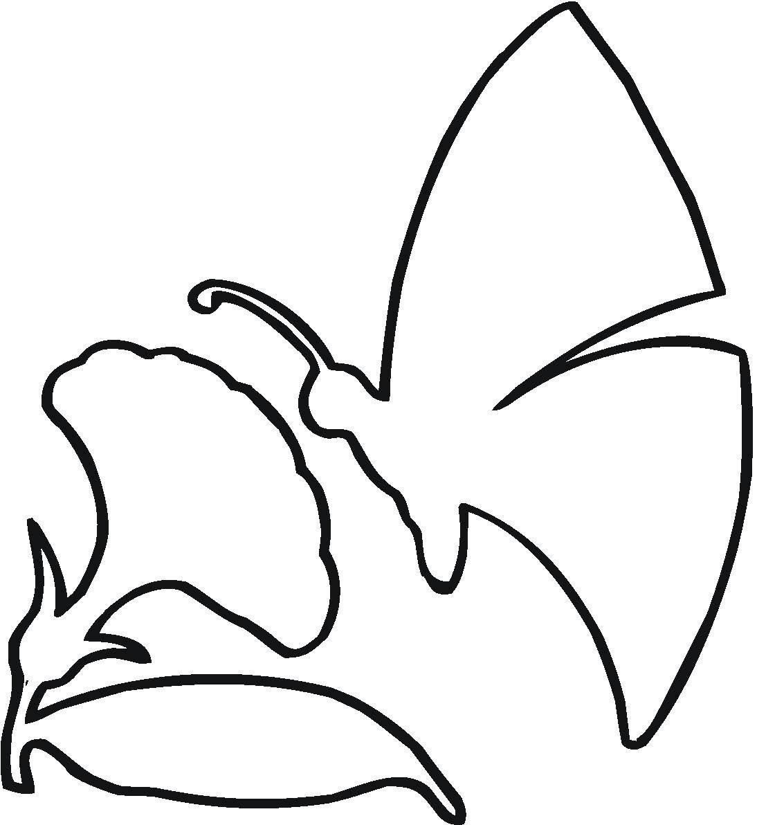 Раскраска Контуры цветка для вырезания Скачать ,Макияж,.  Распечатать