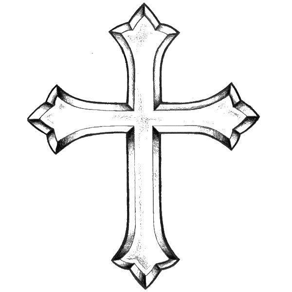 Раскраска Красивый крест. Скачать кресты, крест.  Распечатать ,Крест,