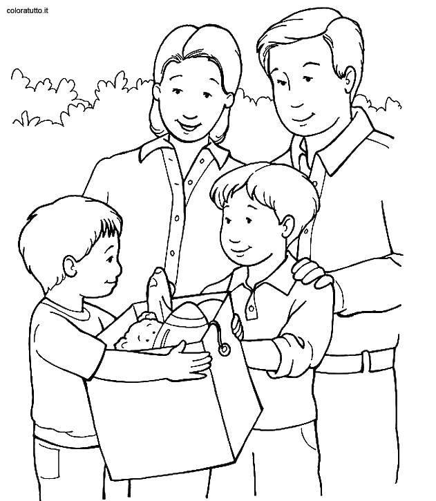 Раскраска Семья Скачать Математика, счёт, логика.  Распечатать ,математические раскраски,