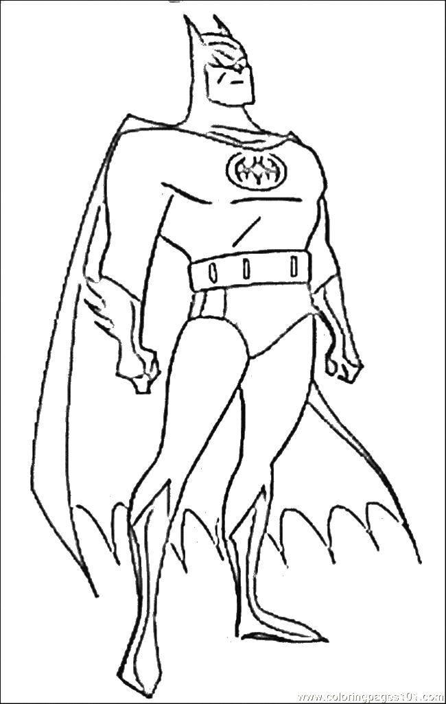 Раскраска Плащ и бэтмен Скачать бэтмен, плащ, маска.  Распечатать ,супергерои,