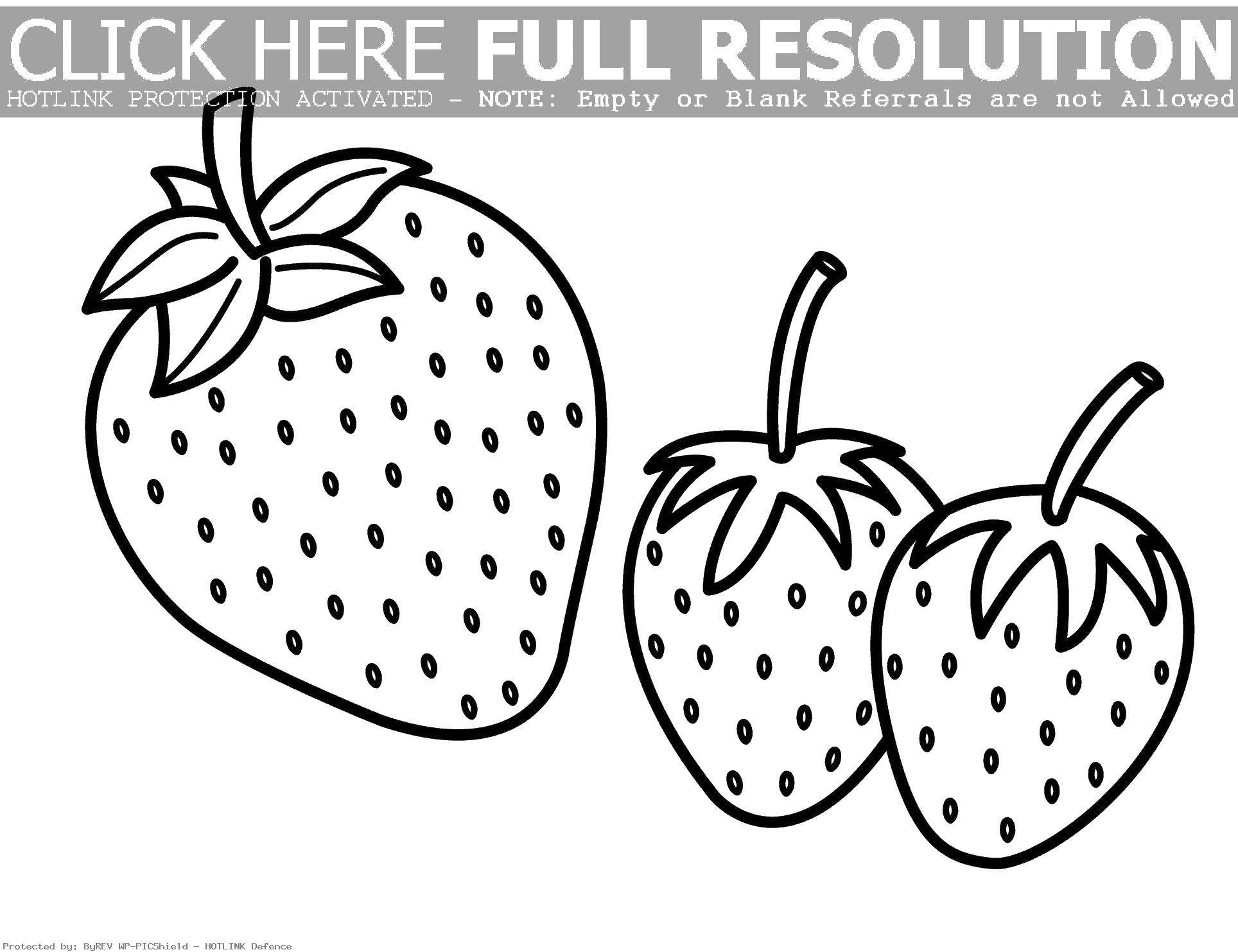 Раскраска Три клубнички Скачать клубника, ягода.  Распечатать ,ягоды,