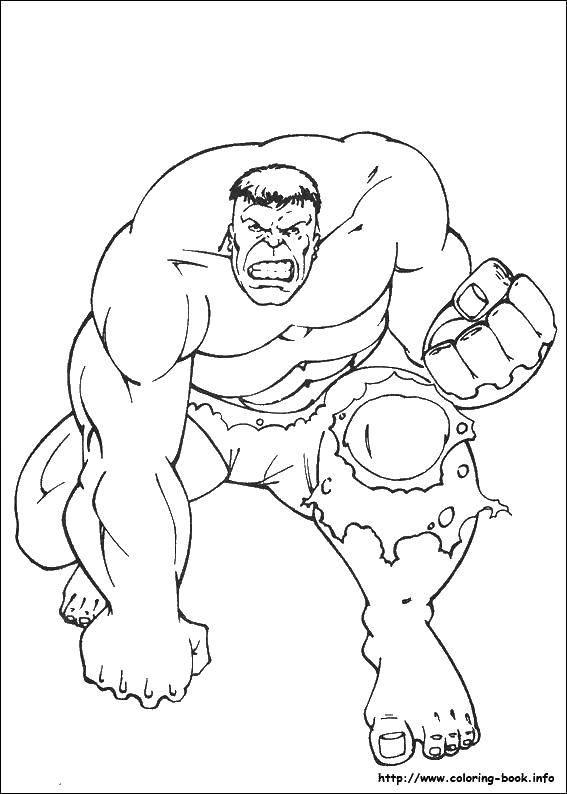 раскраски большой раскраска большой халк супергерои