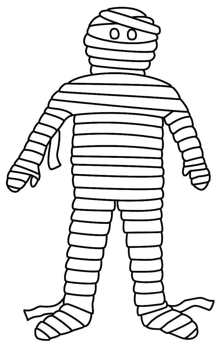 Online Coloring Pages Coloring Page The Mummy In Toilet Paper Mummy