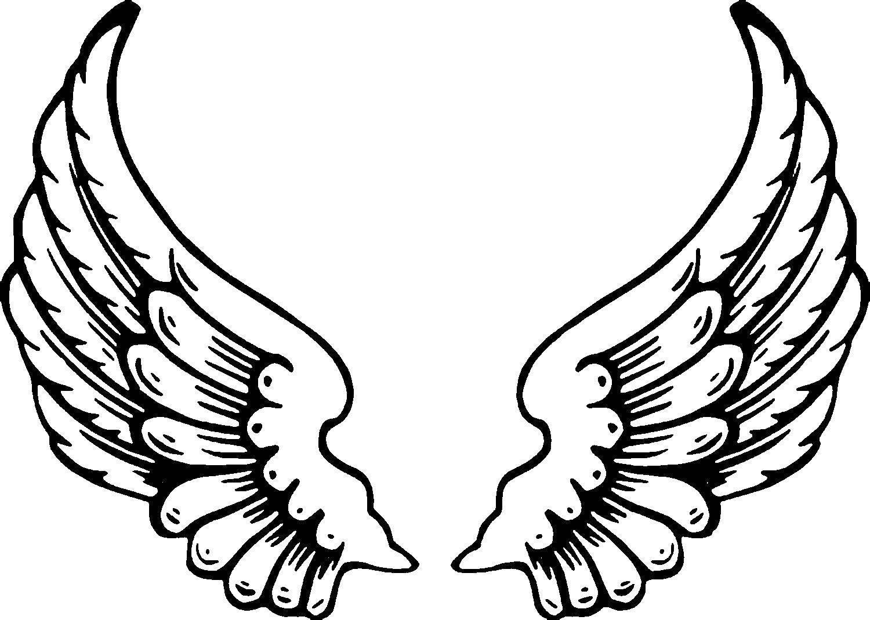 Раскраска Ангельские крылья Скачать крылья, ангел.  Распечатать ,раскраски,