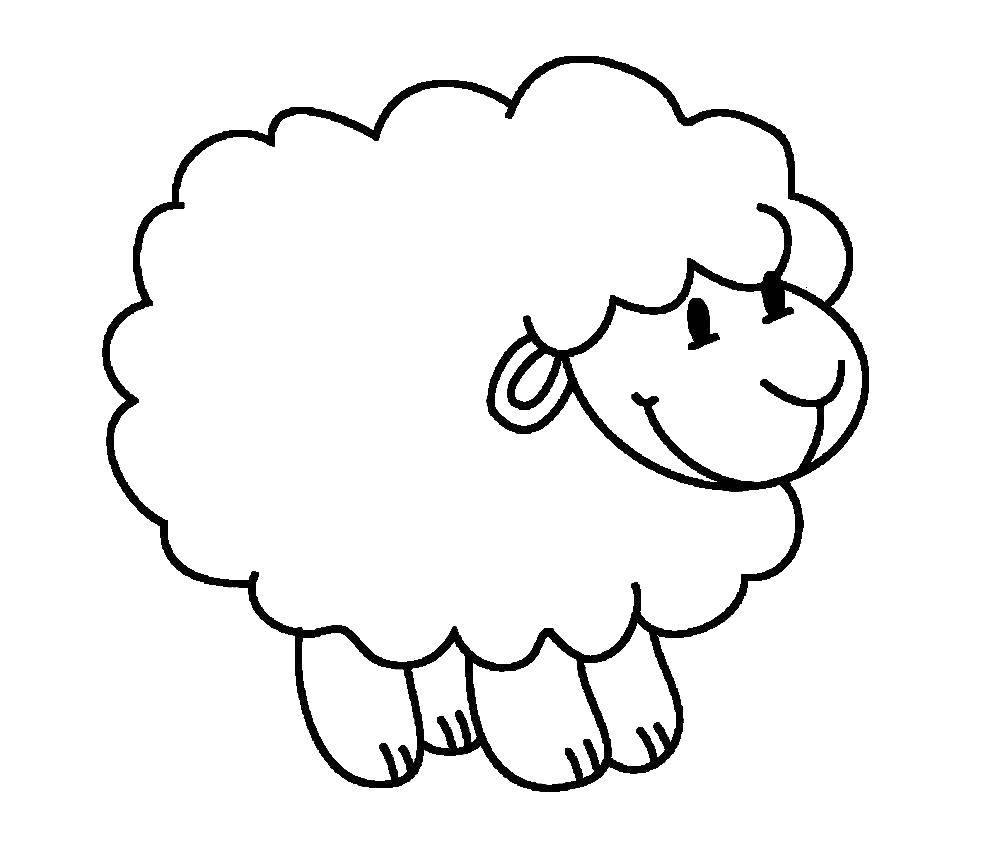 Раскраска Барашек Скачать животные, овечки, барашек.  Распечатать ,Животные,
