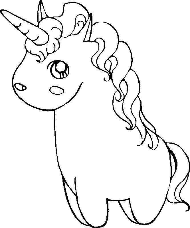 Раскраска Единорожек. Скачать ежинороги, конь, лошадка, рог.  Распечатать ,единороги,