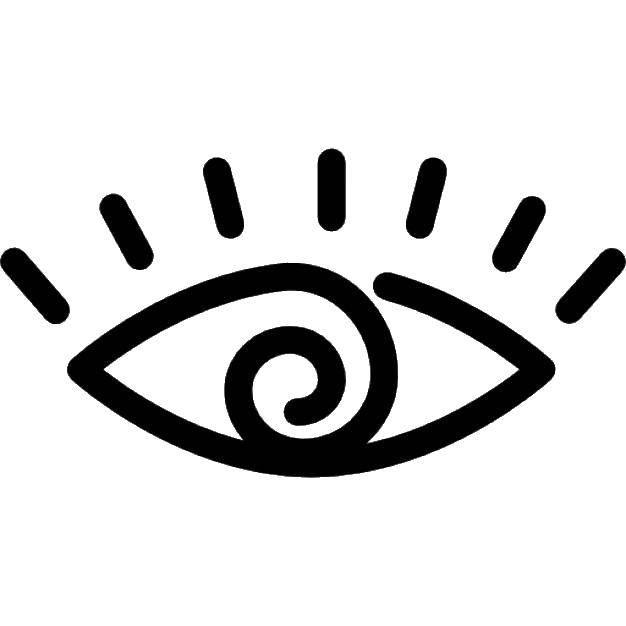 Раскраска Этнический глаз. Скачать Глаз.  Распечатать ,контур глаза,