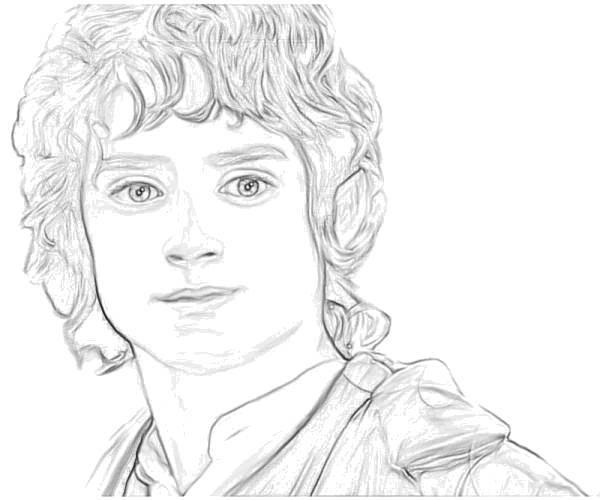 Раскраска Фродо. Скачать Властелин колец, фильмы, Фродо.  Распечатать ,властелин колец,