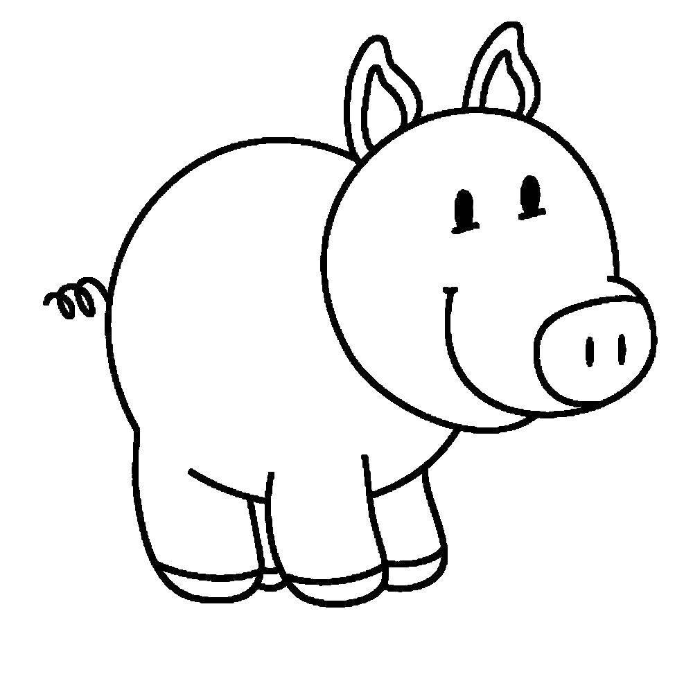 Раскраска Хрюшка Скачать животные, хрюшка, свинка.  Распечатать ,Животные,