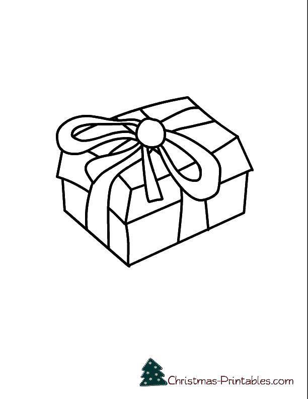 Раскраска Коробочка подарка. Скачать Подарки, праздник.  Распечатать ,раскраски,