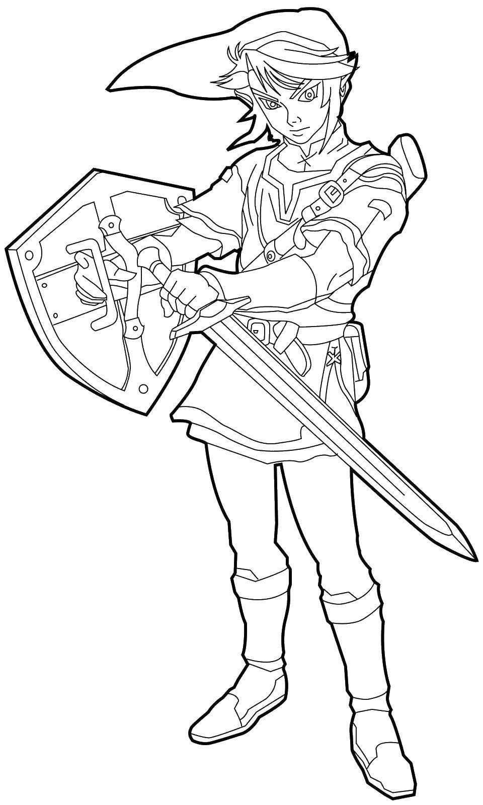 Раскраска Красивый рыцарь. Скачать рыцари, доспехи.  Распечатать ,Рыцари,