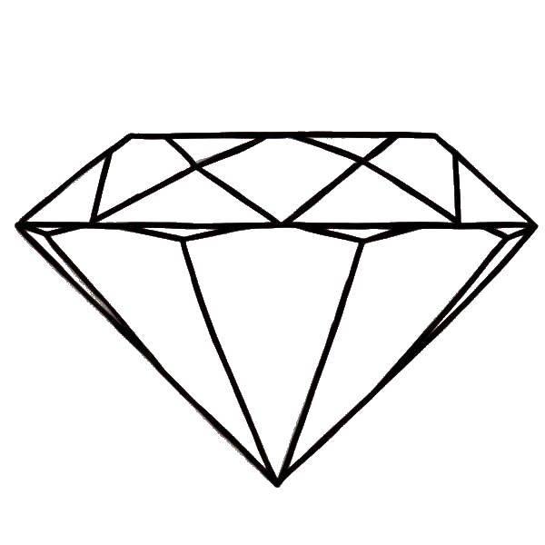 Раскраска Много карат Скачать Алмаз.  Распечатать ,кольцо,