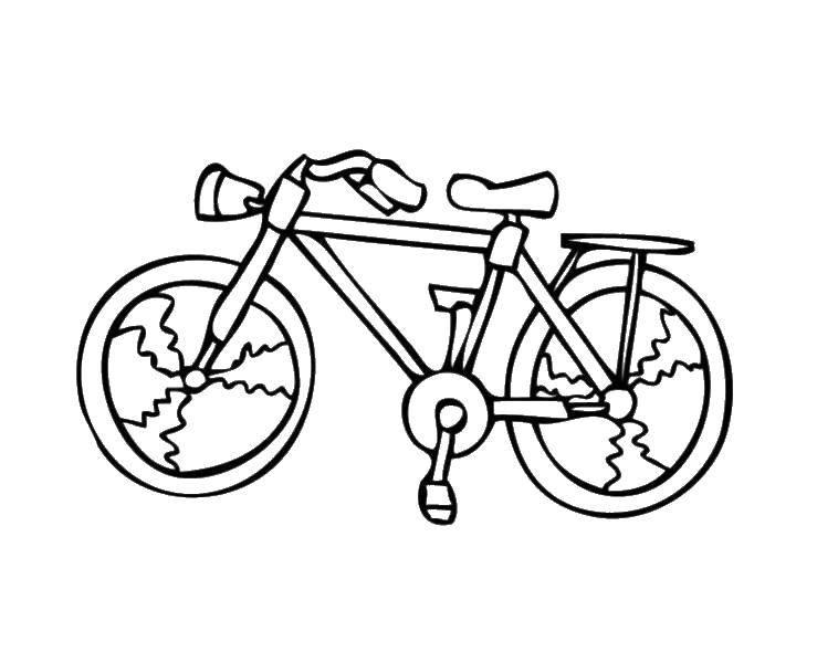 Раскраска Небольшой велосипед Скачать велосипеды, транспорт.  Распечатать ,раскраски,