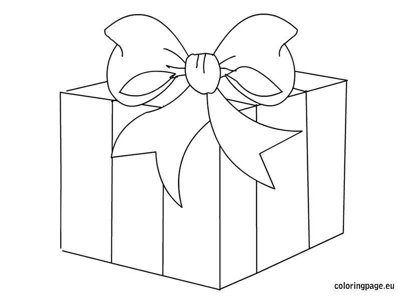 Раскраска Полосатая коробока. Скачать Подарки, праздник.  Распечатать ,раскраски,