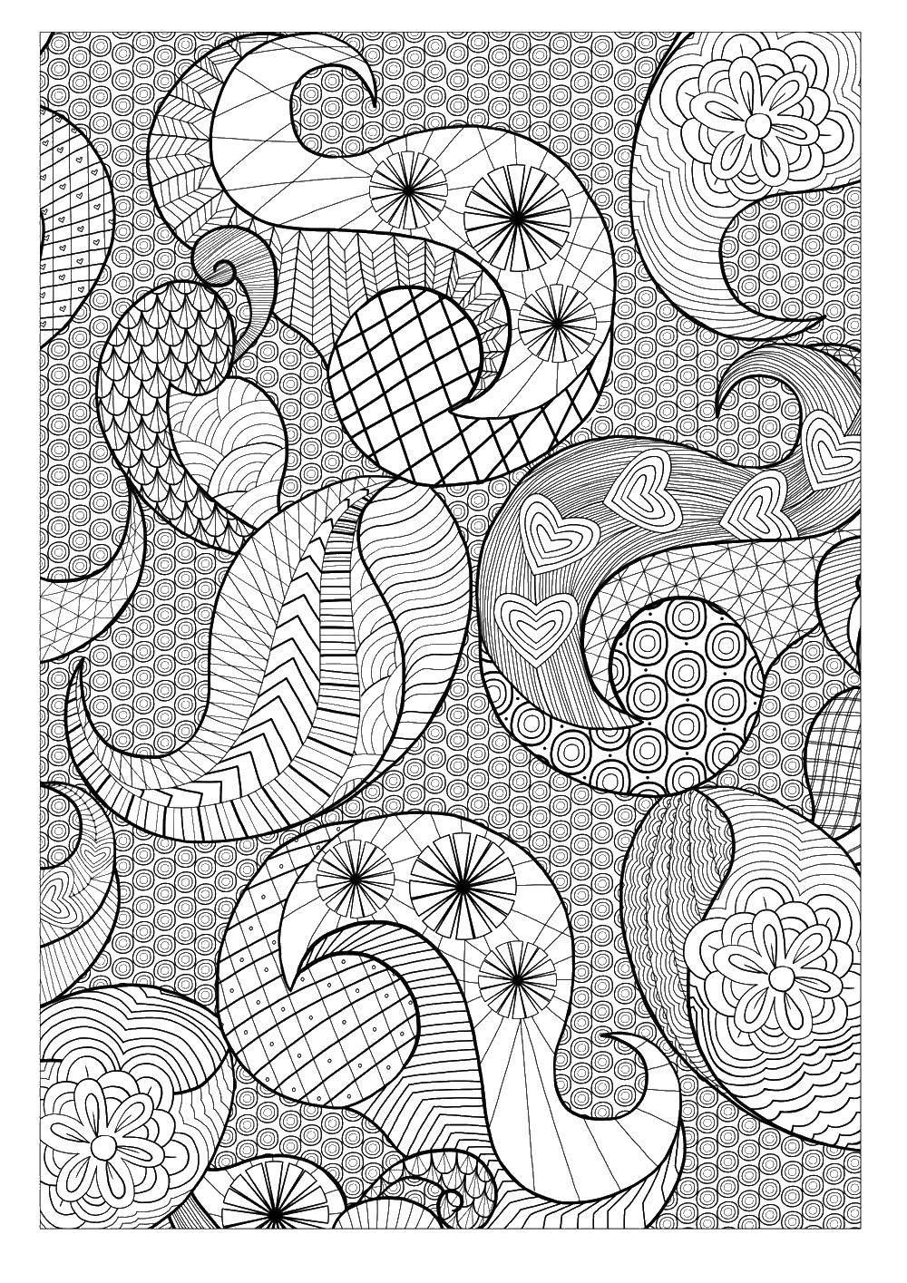 Название: Раскраска Разные узоры. Категория: узоры. Теги: узоры, фоны, узорчики.