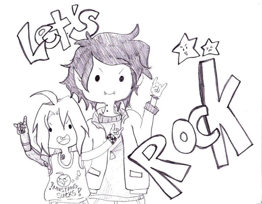 Раскраска Рок. Скачать музыка, рок, стиль.  Распечатать ,музыка,