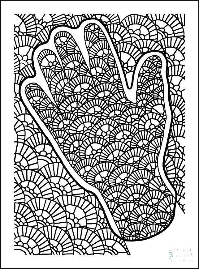 Раскраска Рука и узоры. Скачать рука, узоры.  Распечатать ,Контур руки и ладошки для вырезания,