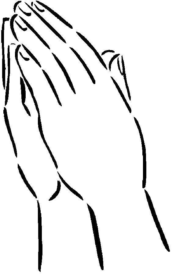 Раскраска Руки сложили для молитвы. Скачать Религия, молитва.  Распечатать ,религия,