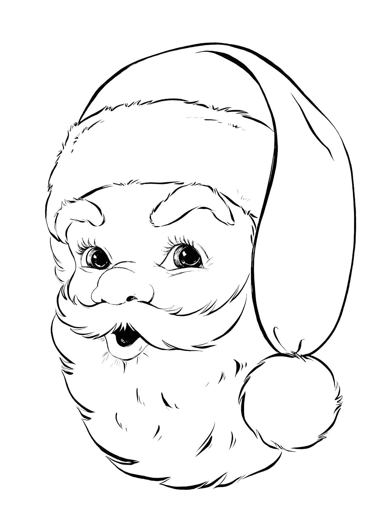 Раскраска Санта клаус! Скачать Рождество, Санта Клаус.  Распечатать ,Рождество,