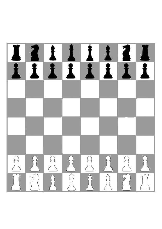 Раскраска Шахматная доска Скачать игра, спорт, шахматы.  Распечатать ,Шахматы,