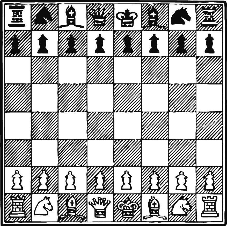 Раскраска Шахматы Скачать игра, спорт, шахматы.  Распечатать ,Шахматы,