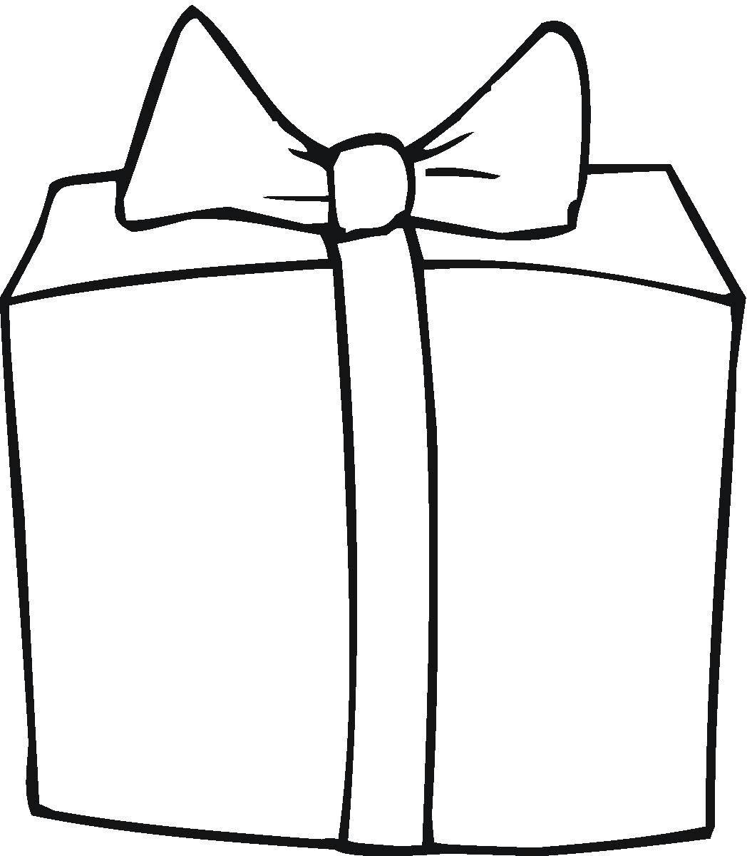 Раскраска Упаковка подарка Скачать Подарки, праздник.  Распечатать ,раскраски,