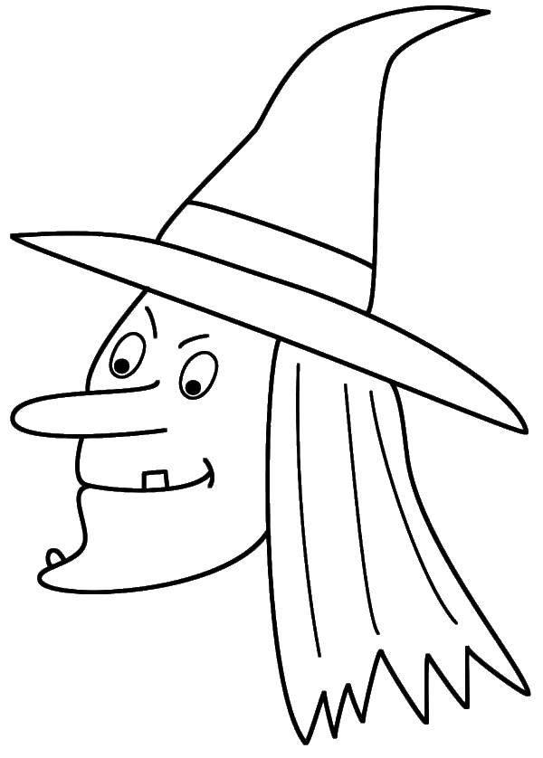 Раскраска Ведьма с одним зубом Скачать Хэллоуин, ведьма.  Распечатать ,ведьма,