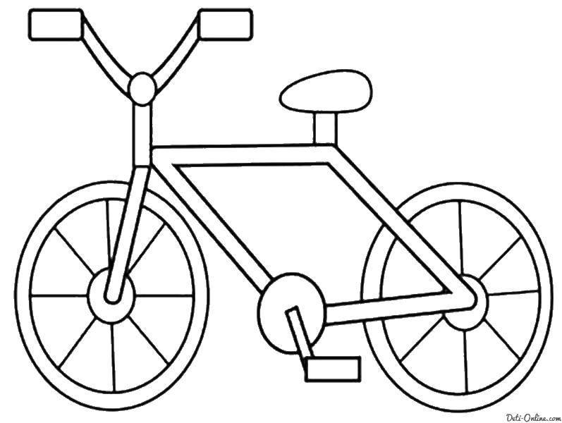 Раскраска Велосипедик Скачать Транспорт, велосипед.  Распечатать ,раскраски,