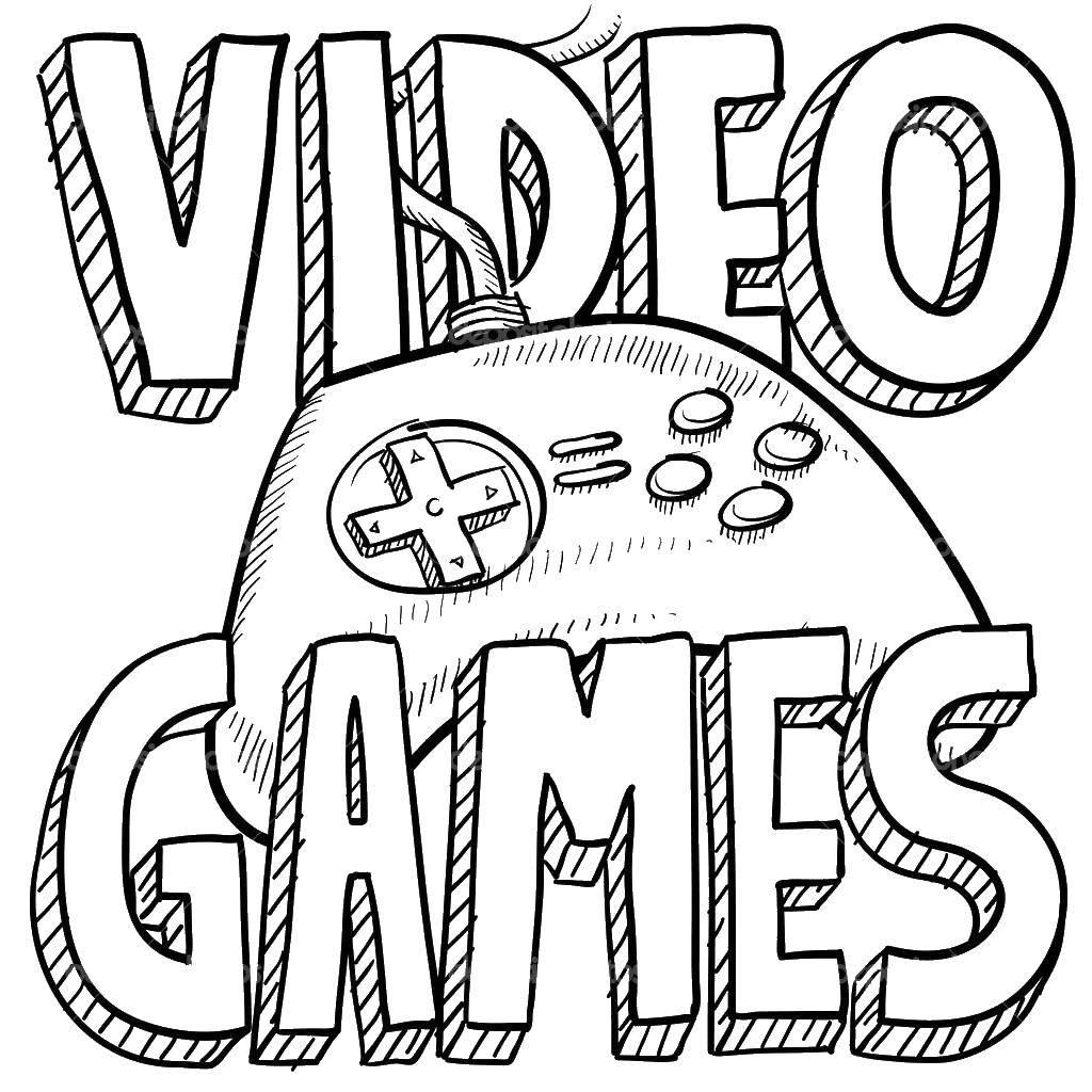 Раскраска Видеоигры в иксбокс Скачать Игры.  Распечатать ,игры,