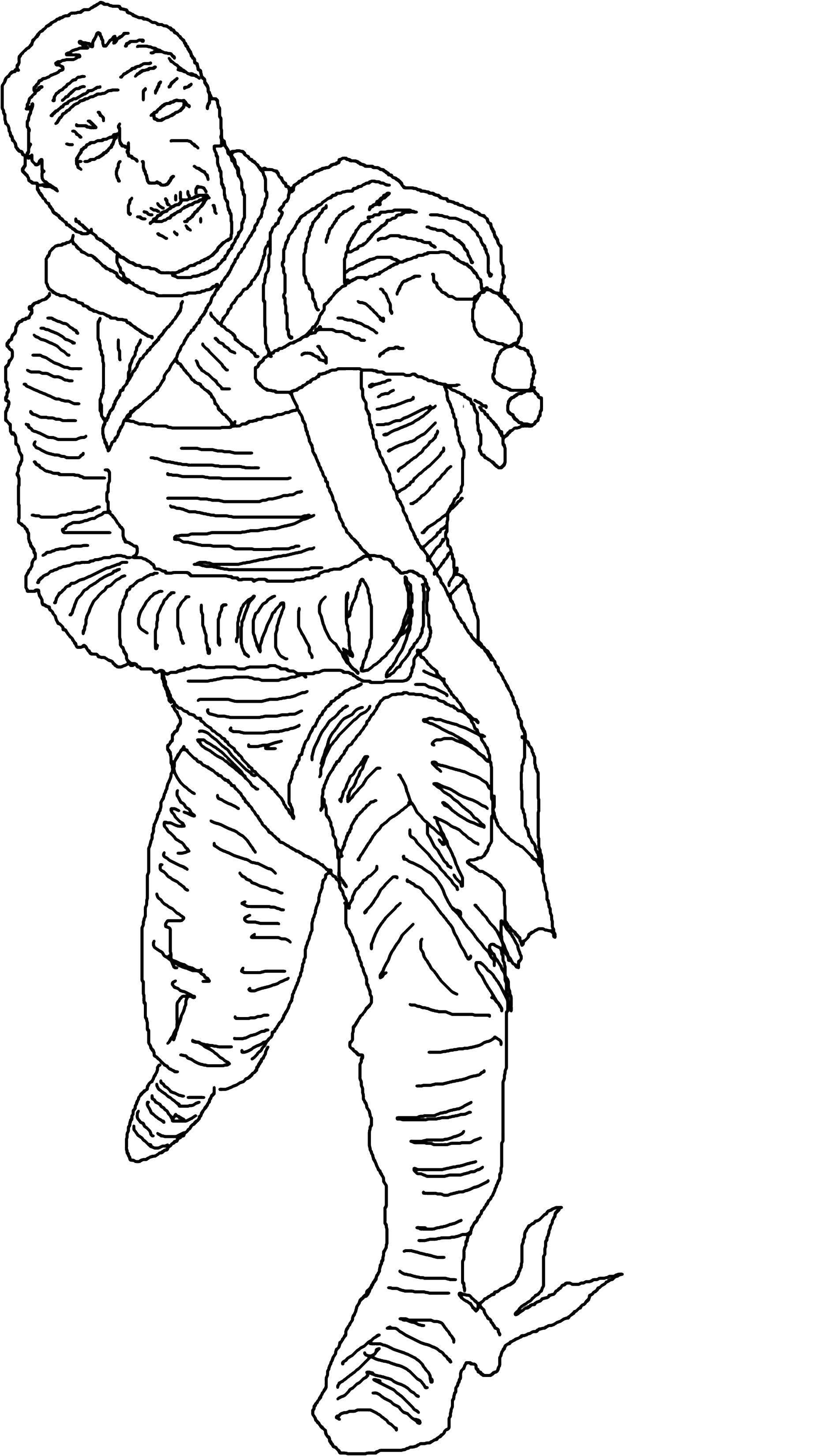 Раскраска Восстание мумии. Скачать Мумия.  Распечатать ,Мумия,
