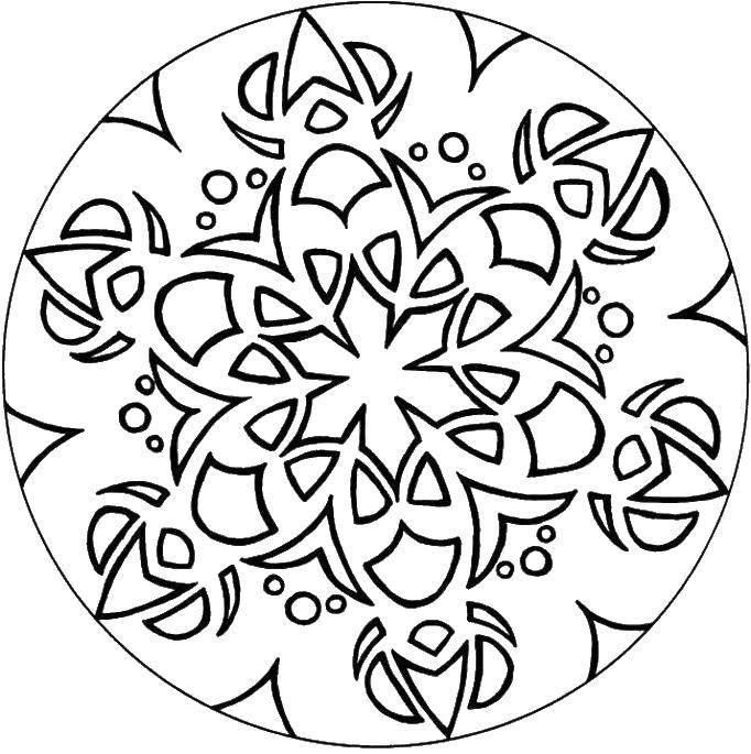 Название: Раскраска Узор снежинка. Категория: узоры. Теги: узоры, снежинка.