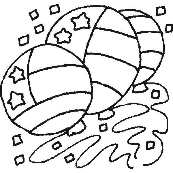 Раскраска Американские шары Скачать америка, шары.  Распечатать ,Америка,