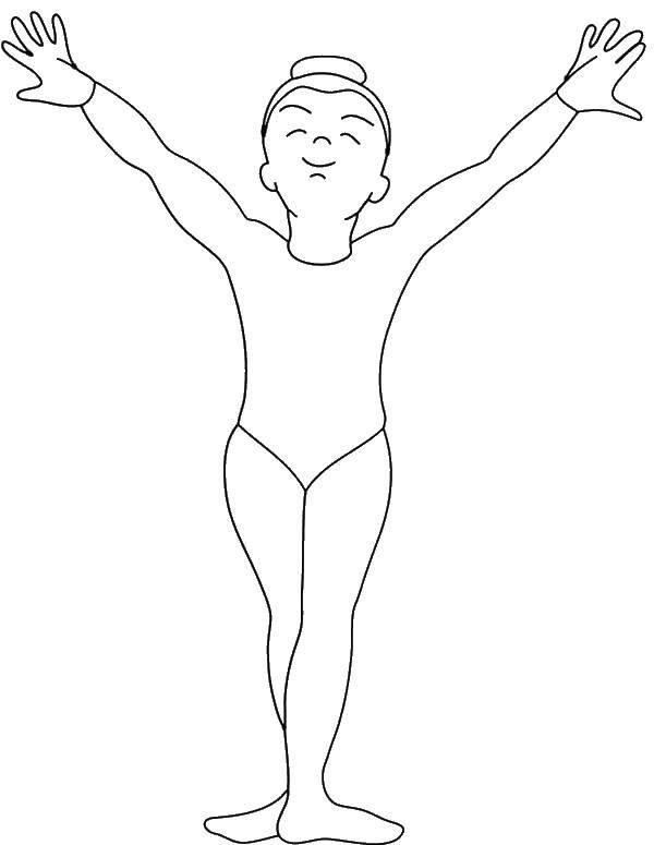 Раскраска Гимнастический купальник Скачать Спорт, гимнастика.  Распечатать ,гимнастика,