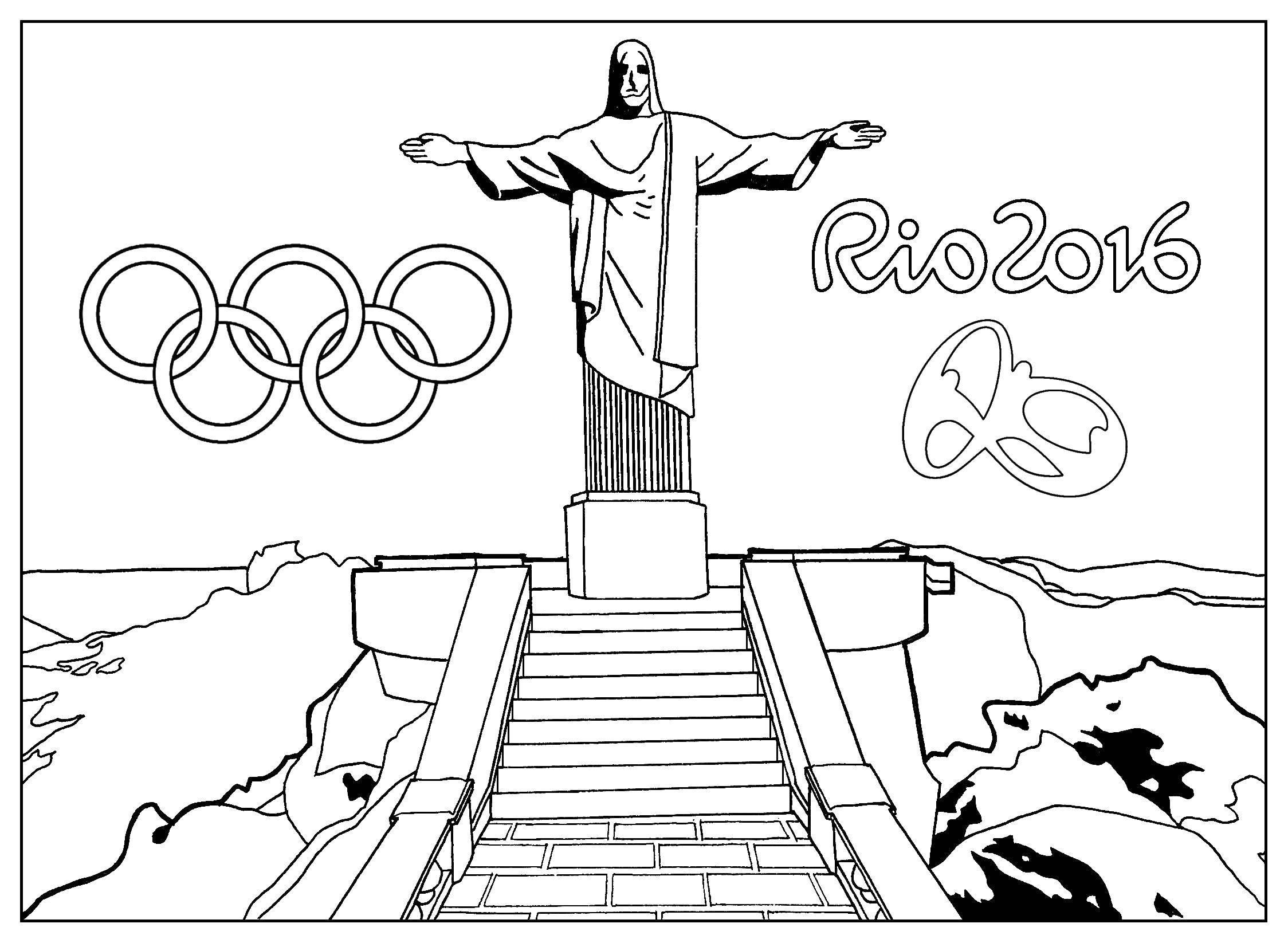 Раскраска Игры в рио Скачать Олимпиада.  Распечатать ,игры,