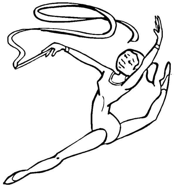 Название: Раскраска Гимнастика. Категория: спорт. Теги: спорт, гимнастика, гимнастка..