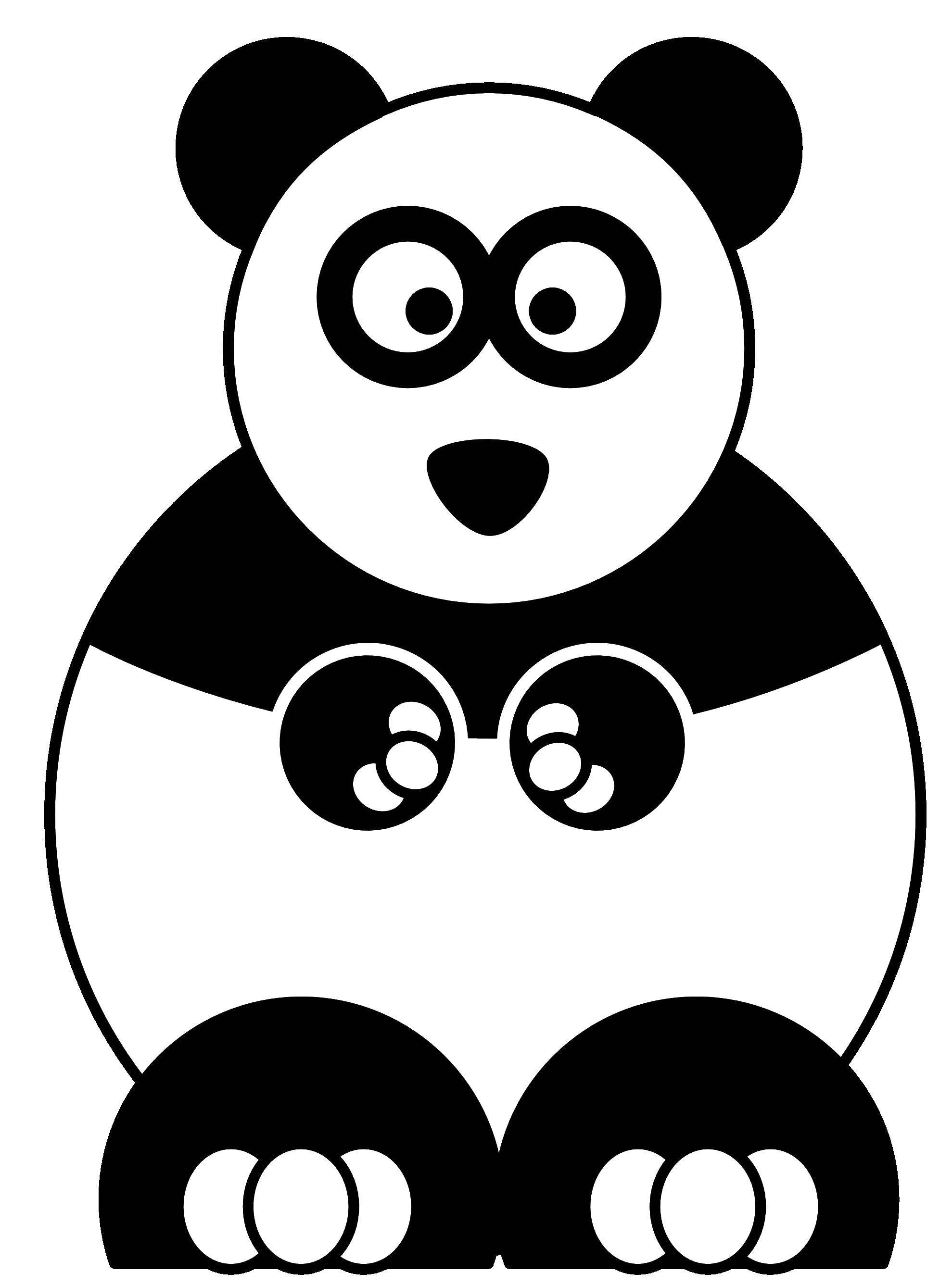Название: Раскраска Панда. Категория: Кирби. Теги: кирби, панда.