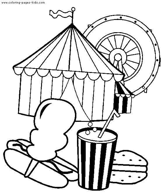 Название: Раскраска Поход в цирк. Категория: Клоуны. Теги: Клоун, цирк, радость, веселье.