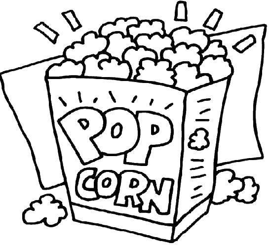 Название: Раскраска Попкорн. Категория: Еда. Теги: еда, попкорн, кукурузка.