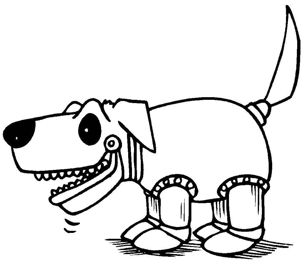 Раскраска робот Скачать ,роботы, собака, собачка,.  Распечатать