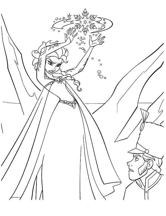 Раскраска Принцесса использует силу Скачать принцесса, мультфильмы, сила.  Распечатать ,Принцессы,