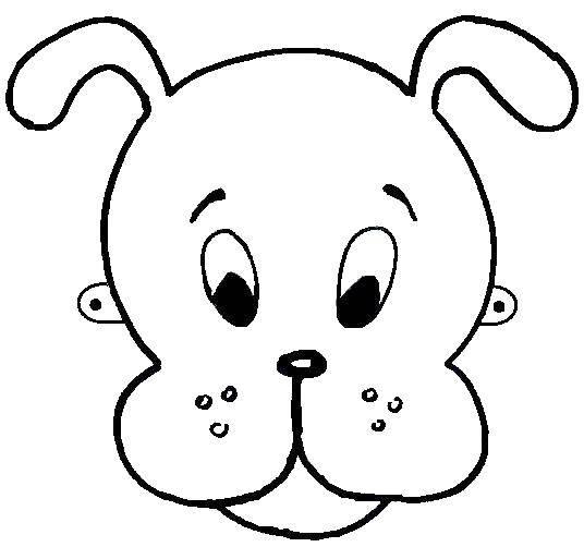 Раскраска Маска собаки. Скачать маска, собака.  Распечатать ,маска,