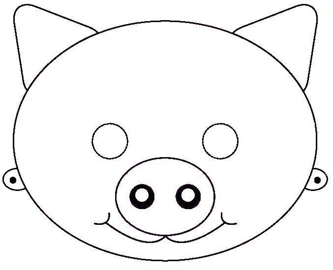Раскраска Маска свинки Скачать Маскарад, маска.  Распечатать ,Маски,