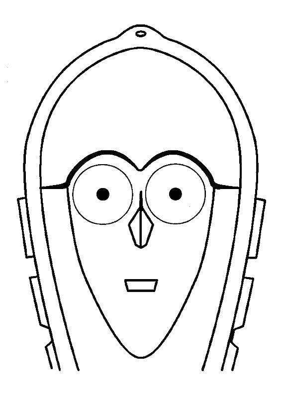 Раскраска Робот из будущего Скачать Робот.  Распечатать ,робот,