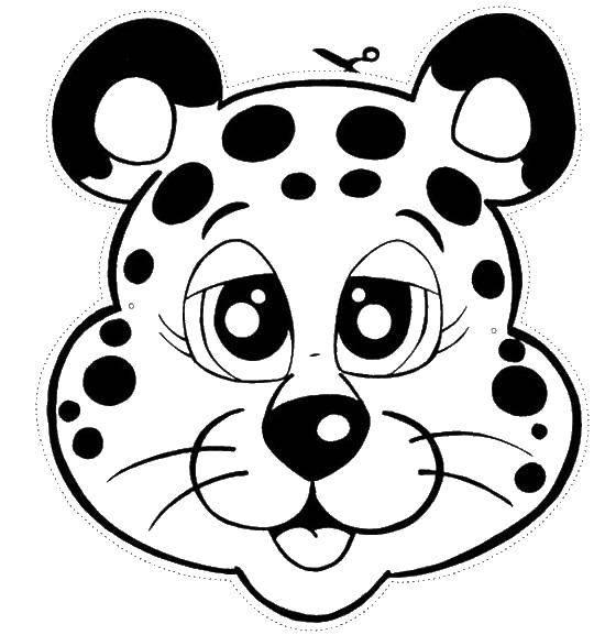 Раскраска Вырежи маску леопарда Скачать Маскарад, маска.  Распечатать ,Маски,