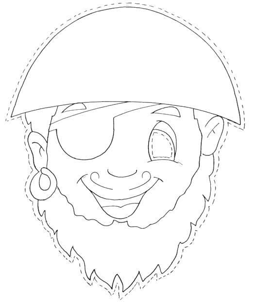 Раскраска Вырежи маску пирата Скачать Маскарад, маска.  Распечатать ,Маски,
