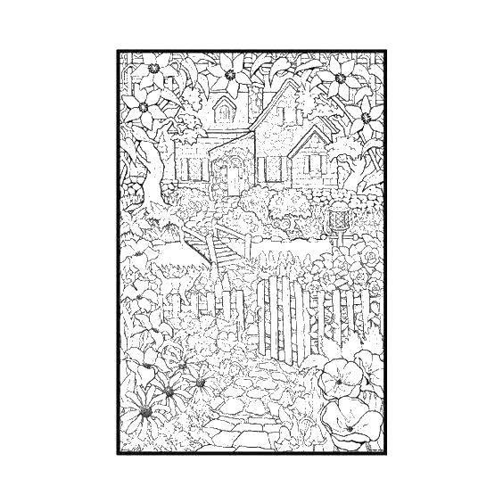 Раскраска дома Скачать ,примеры, картинка, математика, дракон,.  Распечатать
