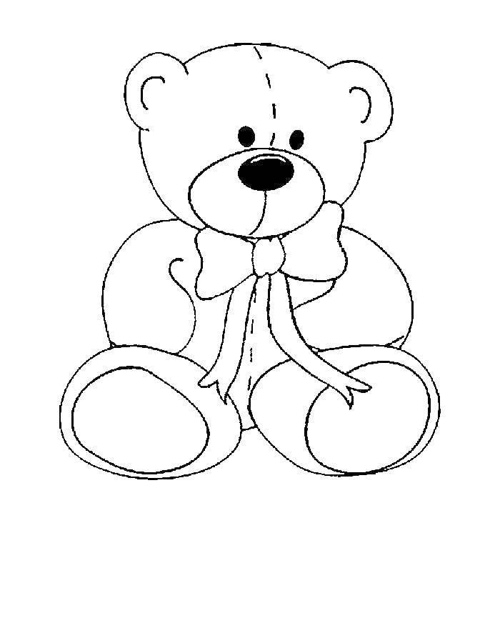 Раскраска Медведь Скачать медведь, игрушка.  Распечатать ,игрушка,