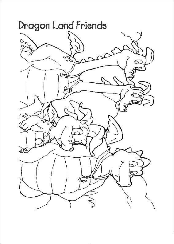 Раскраска Дракон кесси Скачать дракон кесси.  Распечатать ,мультики,